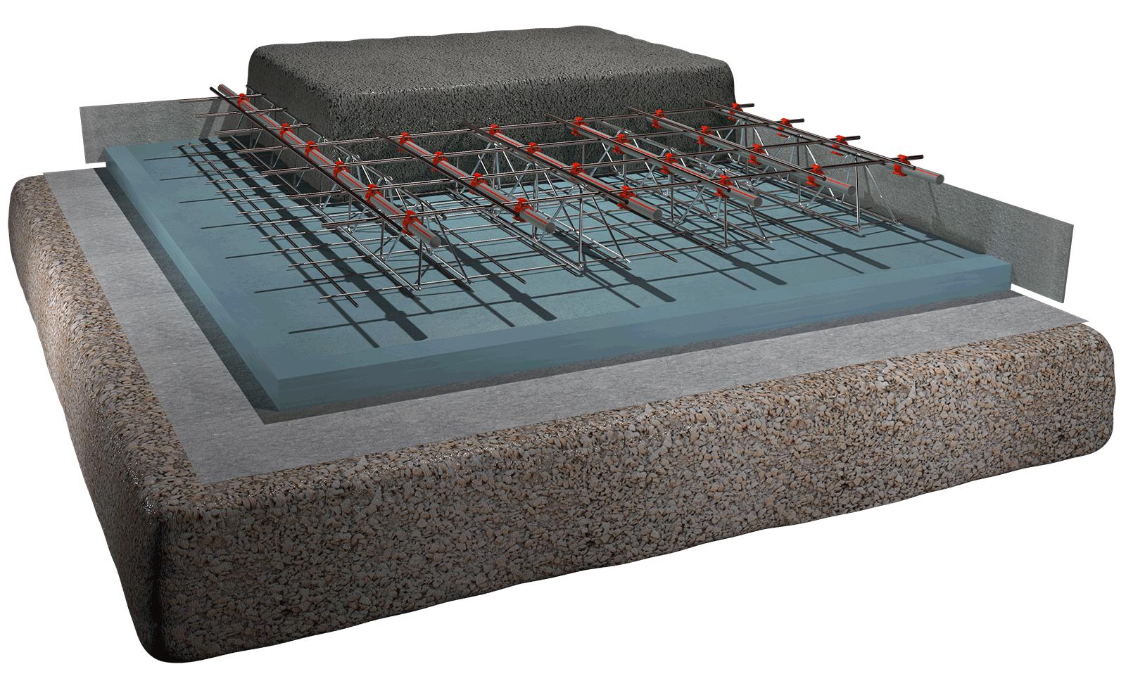 Riscaldamento A Pavimento Tubi riscaldamento a pavimento radiante per magazzini/capannoni