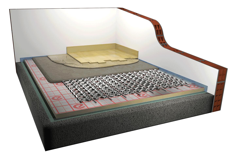 Riscaldamento A Pavimento Ribassato Spessore impianto radiante a pavimento a minimo spessore