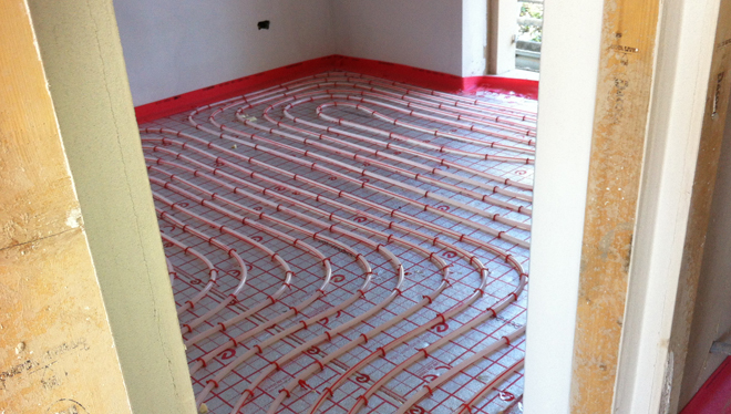 pavimento radiante per il comfort