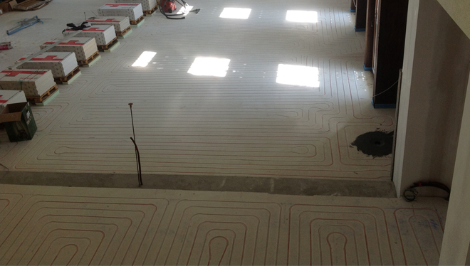 Radiant floor in Church