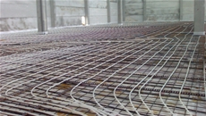 Radiant floor heating for THUN plant