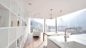 Pavimento radiante Zeromax e soffitto Leonardo in super-attico