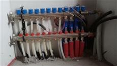 Il collettore di distribuzione Eurotherm per l'impianto radiante