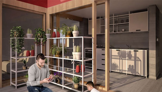 Comfort radiante Eurotherm nel progetto Rhome for DenCity (foto: Rhomefordencity)