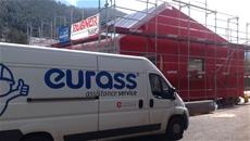 La squadra EURASS di Eurotherm partecipa alla prima costruzione di RhHOME presso la ditta Rubner (BZ)