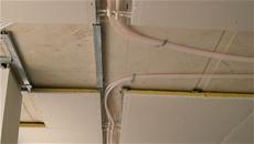Soffitto Leonardo resistente al fuoco, posa dell'impianto