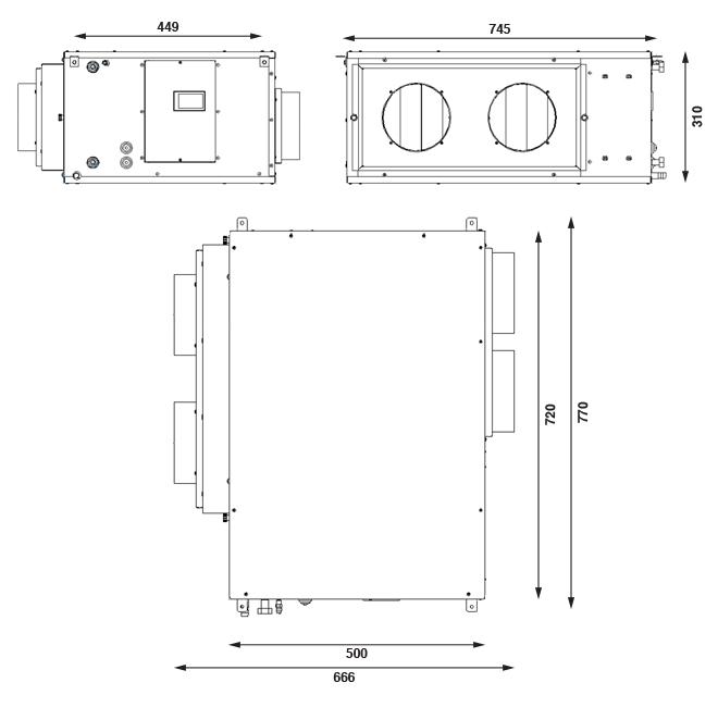 Dimensioni DEU DC 450 AE