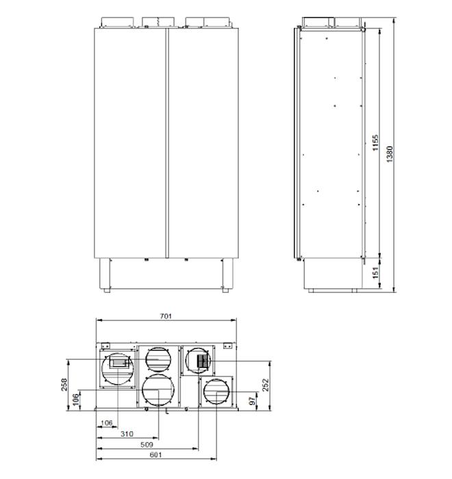 Deuclima-VMC 300 V e 500 V misure