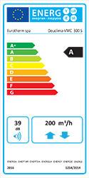 Trattamento aria Deuclima-VMC 300 S classe energetica A+