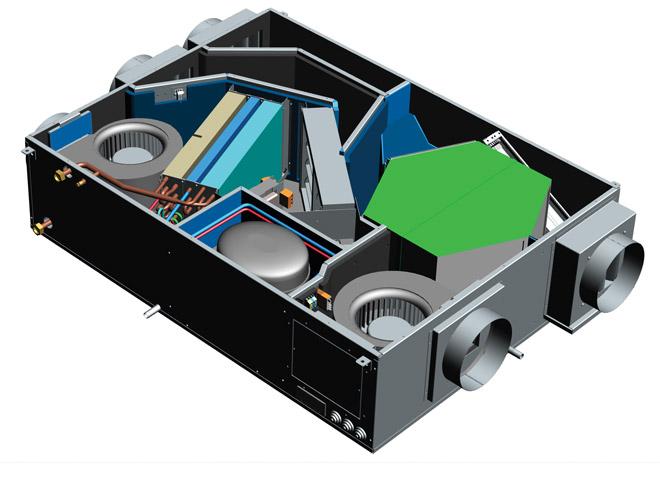 Unità di ventilazione meccanica controllata Deuclima-VMC 300 300 S  con compressore con recuperatore di calore ad alta efficienza e trattamento dell'aria