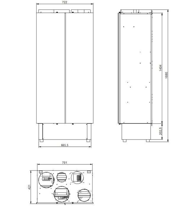 Deuclima-VMC 500 V misure
