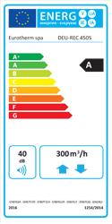 Trattamento aria Deuclima-VMC DEU-REC 450 S classe energetica A