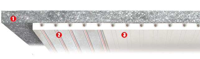 Sistema radiante a soffitto Leonardo passo 3,5 cm