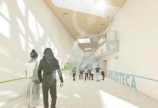 Sistema a basso spessore Zeromax per la climatizzazione della nuova scuola Dino Compagni a Firenze