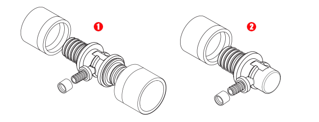 sistema di collegamento rinforzato senza O-ring