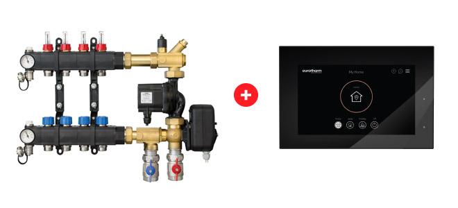 Command Mix SL compatibile con regolazione intelligente dell'impianto radiante SmartComfort 365