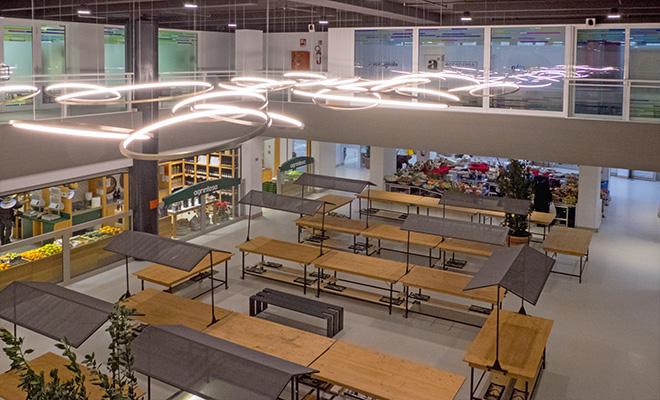 Riqualificazione terziario mercato coperto Foro Annonario di Cesena con sistema radiante a pavimento a basso spessore Zeromax