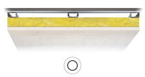 Resa soffitto radiante Leonardo RF resistente al fuoco 10