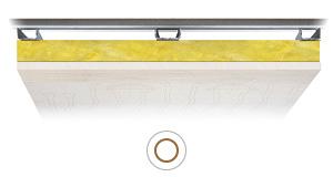 Resa soffitto radiante Leonardo RF resistente al fuoco 5,5