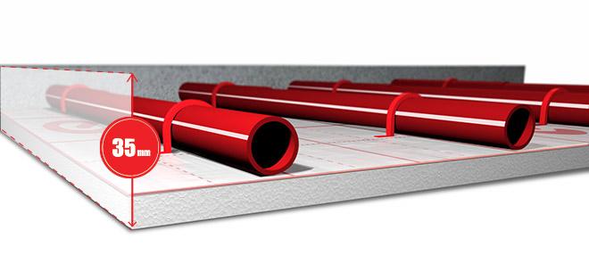 Sistema a basso spessore Europlus-Ten con Superlivellina NE 499 altezza 35 mm