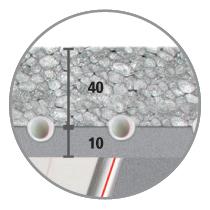 Sistema radiante a soffitto Leonardo passo 3,5 alta resa
