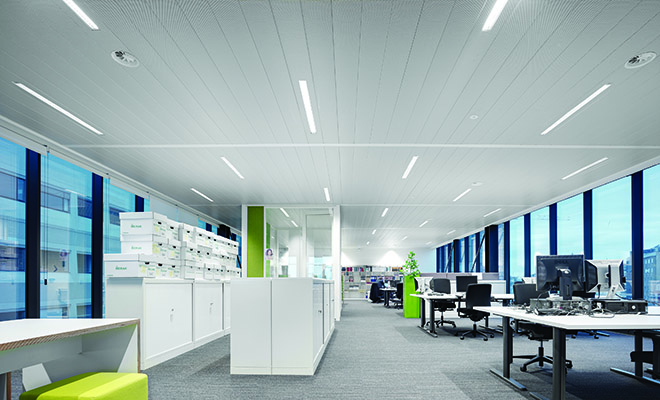 Sistema radiante a soffitto per il terziario EASY-KLIMA