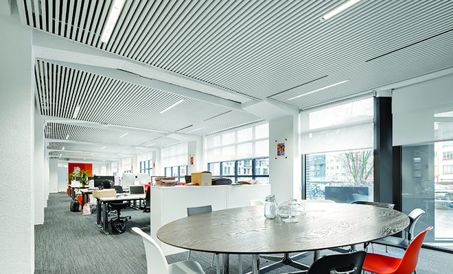 Sistema radiante a soffitto per il terziario SAPP