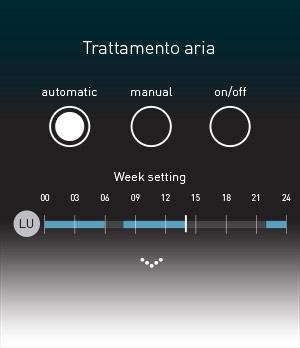Gestiona avanzata trattamento aria da display SmartComfort 365 o da Smartphone con App per Android o iOS Apple