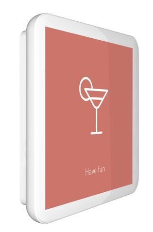 Display touchscreen per la gestione del comfort, caldo in inverno e freddo in estate e deumidificazione