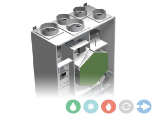 Trattamento aria Deuclima-VMC 300 V verticale