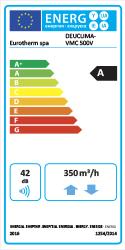 Etichetta energetica Deuclima-VMC 500 V CLASSE A