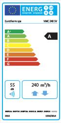 Etichetta energetica VMC 240 SV CLASSE A