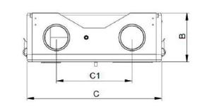 VMC 120 SV disegno tecnico misure