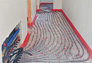 Impianto radiante a pavimento europlus-silentium con abbattimento acustico per  Santa Teresa Parma