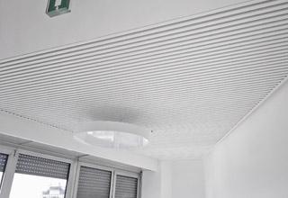 Sistema radiante soffitto metallico Eurotherm SAPP edificio Corso Italia 13, Milano