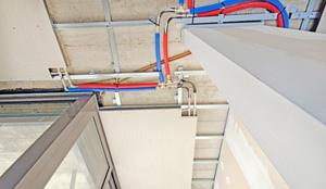 impianto radiante a soffitto riscaldamento e raffrescamento uffici