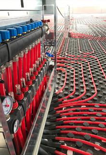 Stabilimento produttivo e uffici radiante a pavimento termoformato Eruoflex TF